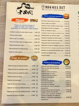 menu restaurante canton food