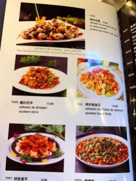 Platos Restaurante Chengdu