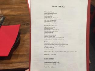 menu del restaurante mian