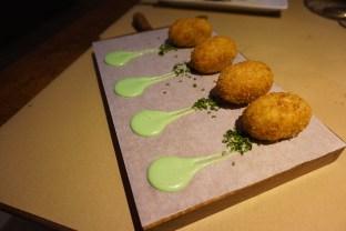 restaurante verne barcelona Croquetas de Jamón y Pollo