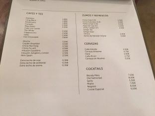 la esquina menu carta brunch