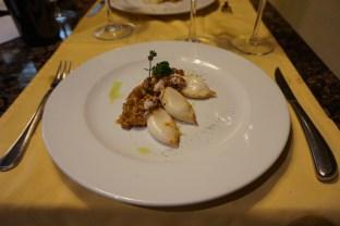 restaurante roma calamares con risotto