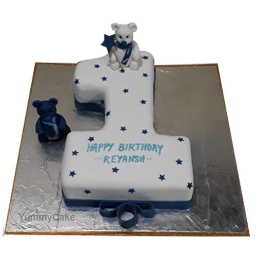 1 Year Birthday Cake Online Designer Cake Yummycake