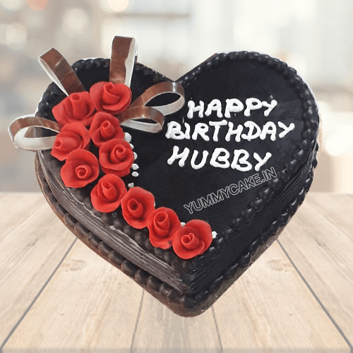 Order Cake For Husband Heart Shaped Cake For Husband Yummycake