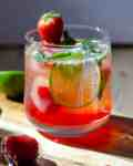 Low Carb Strawberry Basil Mojito