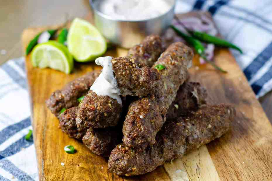 Low Carb Indian Seekh Kebab