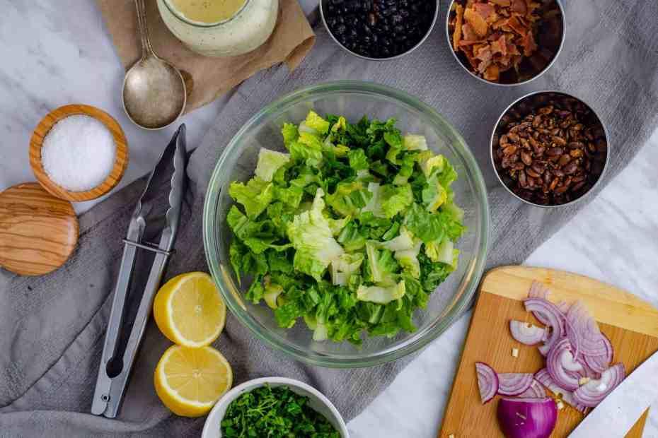 Keto Caesar Salad Ingredients