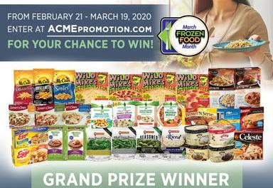 ACME Markets Frozen Food Month Sweepstakes