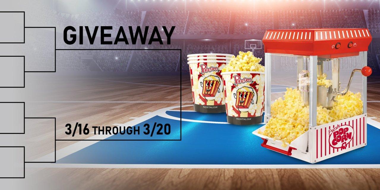 Nostalgia Popcorn Maker Giveaway