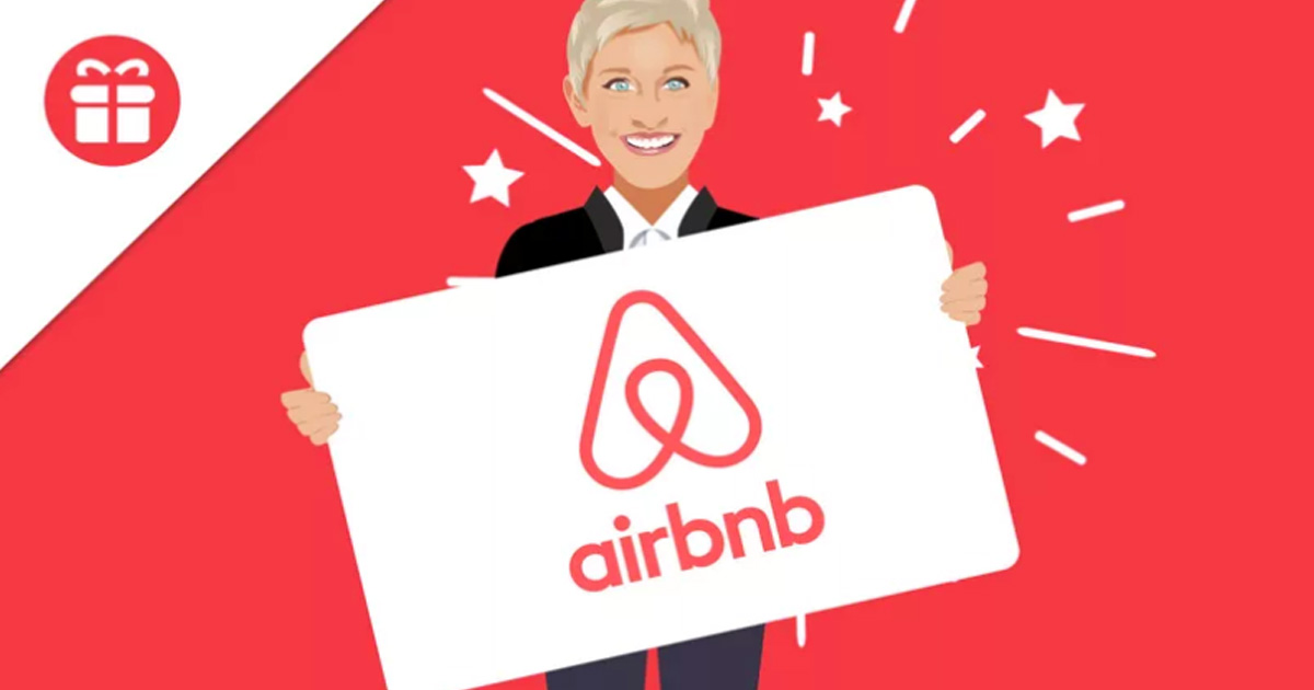 Ellen $600 Airbnb Gift Card Giveaway