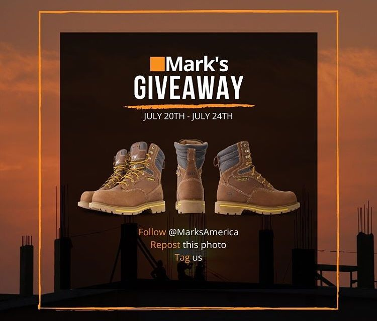 Mark's America Work Boots Instagram Giveaway
