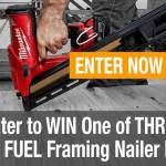 Milwaukee M18 FUEL Framing Nailer Kit Giveaway