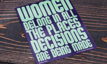 Free Women Belong in All Places Decisions are Being Made Sticker