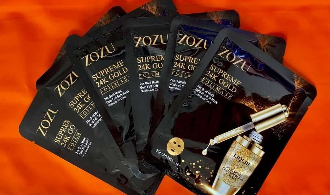 Free ZOZU Anti-Aging 24K Gold Foil Mask