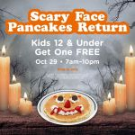 Free Scary Face Pancakes