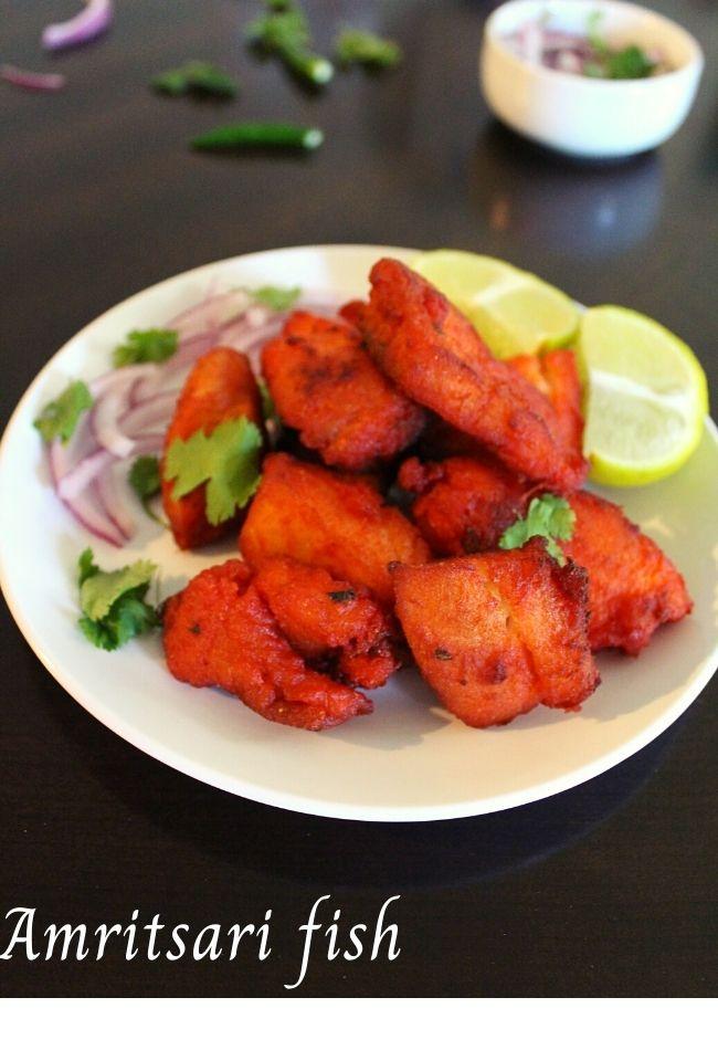 fish pakora, amritsari fish fry - Yummy Indian Kitchen