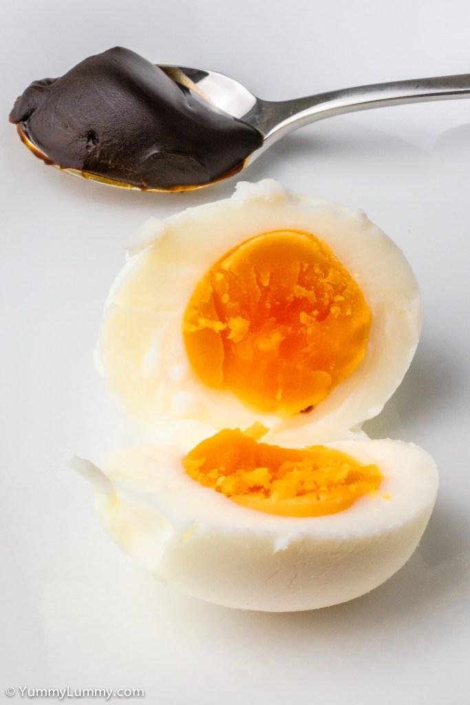 Boiled egg with vegemite