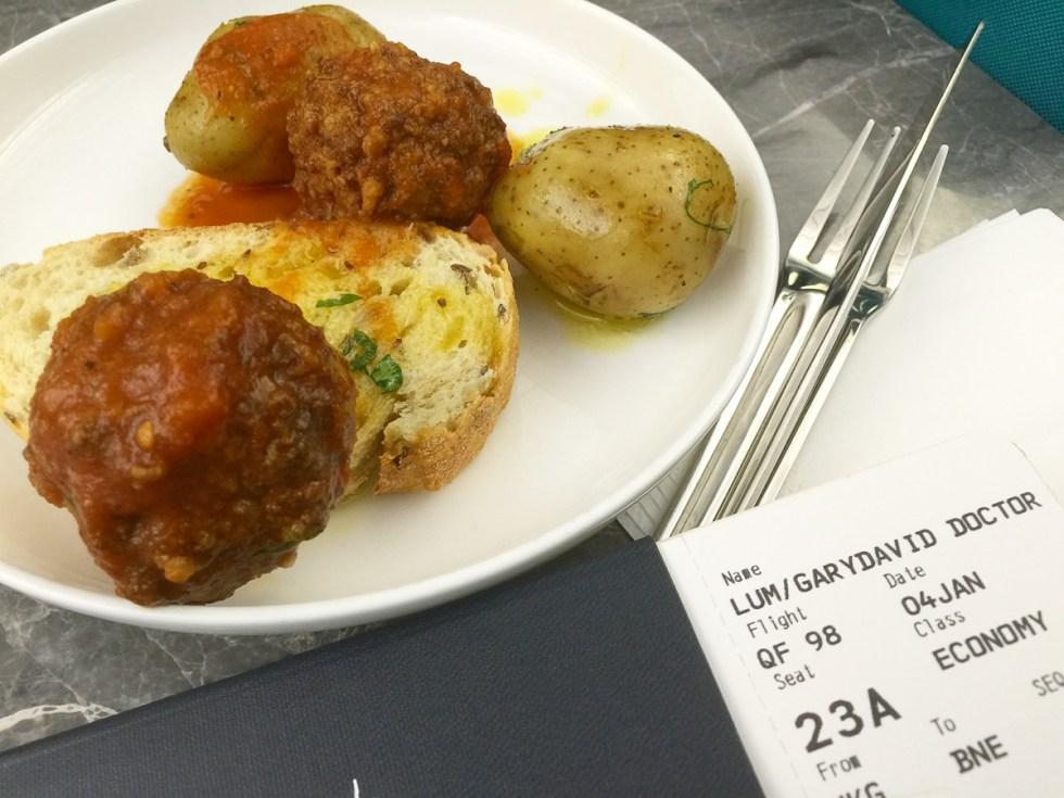 Meatballs and potato