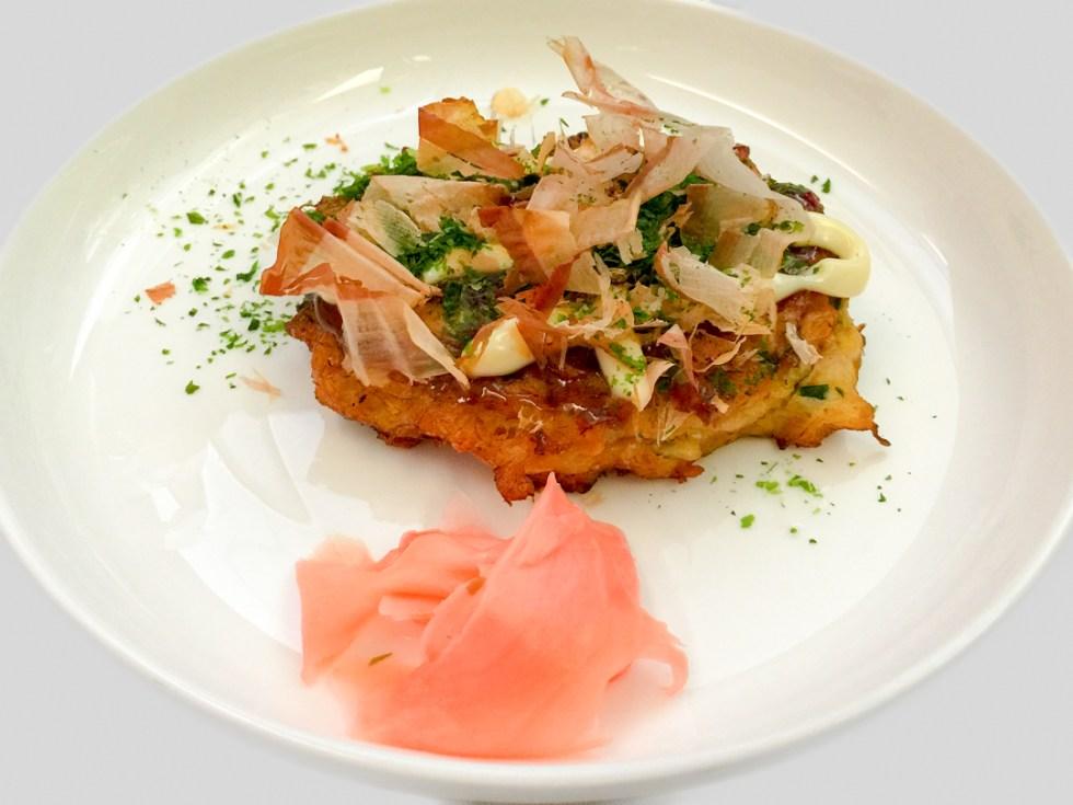 Crab and vegetable savoury pancake on QF35