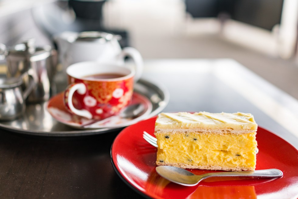 This vanilla slice and tea was a revelation at the Violet Town Cafe. I love the passion fruit in the custard and in the vanilla icing. I highly recommend the Violet Town Cafe! road trip to Bendigo
