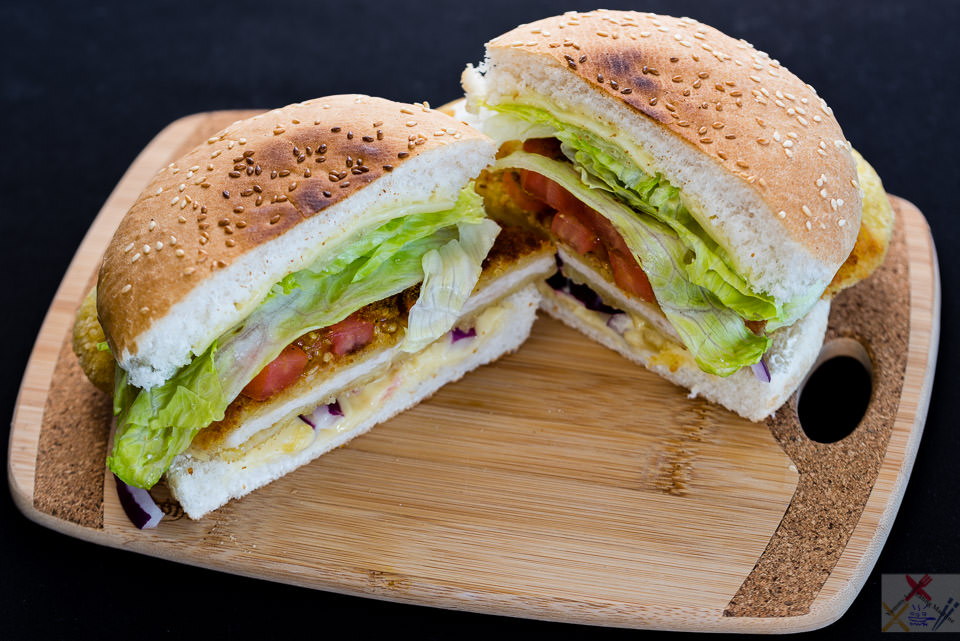 Hello Sunday. Chicken schnitzel cheeseburger. Gary Lum