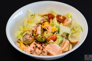 Salmon and mango avocado limey lummy salad Gary Lum