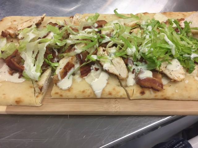 Cesar with Chicken on Flatbread
