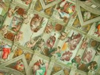 The detail of the ceiling