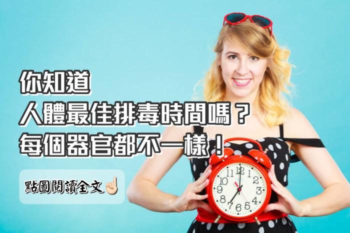 你知道,人體排毒最佳時間是幾點嗎?-台灣養生網