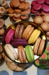 Colourful macarons - they are known for their dual coloured varieties.