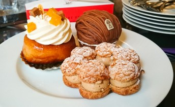 Baba au Rhum by Pierre Herme, Mont Blanc from Angelina, and Paris Brest from La Patisserie des Reves. The most memorable one was the Mont Blanc, crunchy meringue, whipped cream and smooth chestnut - just delicious.