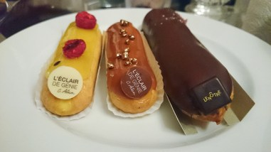 Eclairs from Lenotre and L'Eclair de Genie. I remembered I enjoyed the yellow one the most, I believe it was mango passion fruit - nicely tart and refreshing.
