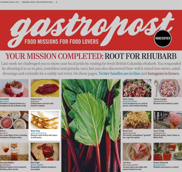 Gastropost Vancouver Sun