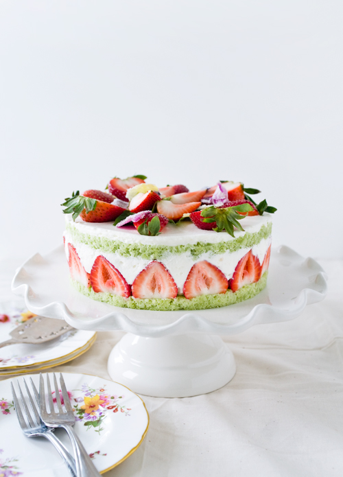 Strawberry Basil Cake