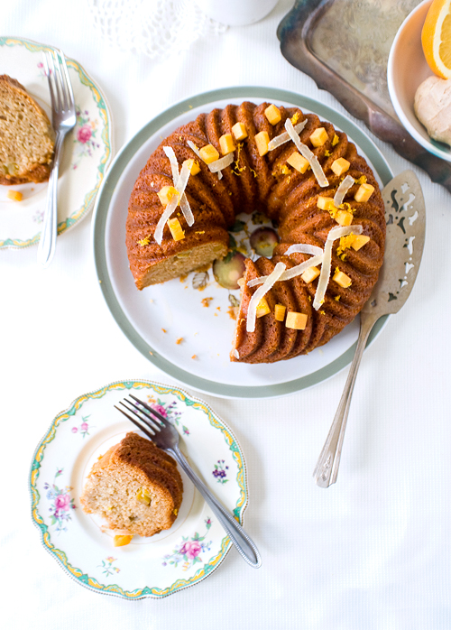 Honey Persimmon Gingerbread Cake