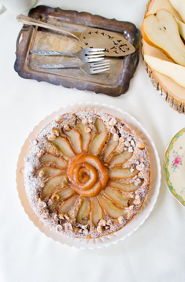 Cassis Pear Hazelnut Tart
