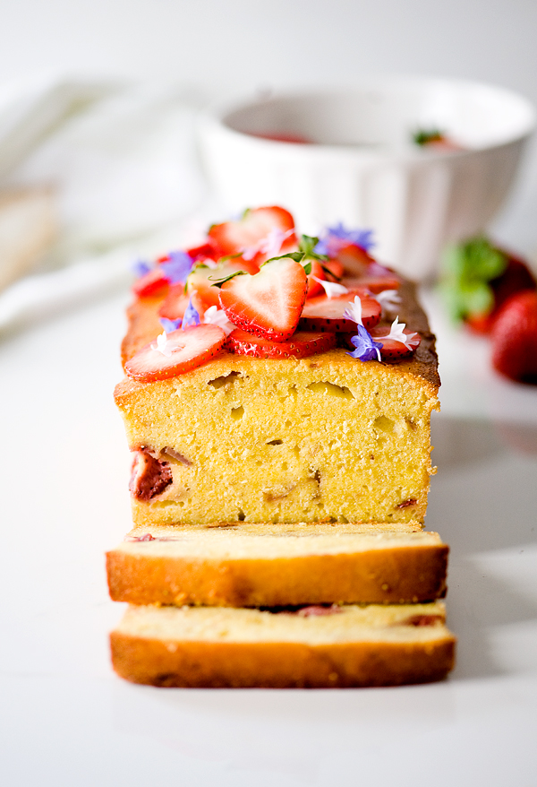 Roasted Strawberry Pound Cake