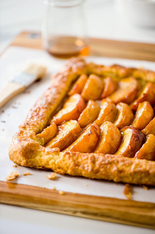Maple Bourbon Roasted Peach Galette