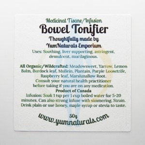 Yum Naturals Emporium - Bringing the Wisdom of Nature to Life - Bowel Tonifier Medicinal Support Tisane