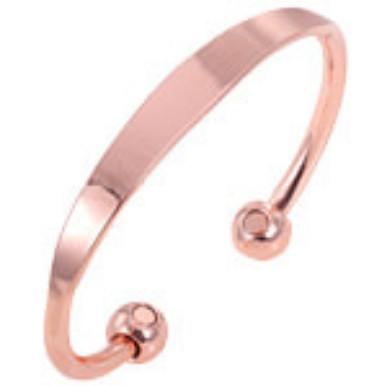 YumNaturals Emporium - Bringing the Wisdom of Nature to Life - Copper Magnetic Bracelet - Plain