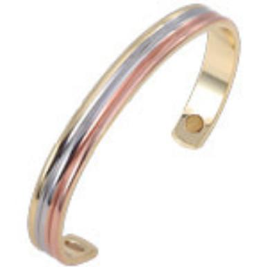 YumNaturals Emporium - Bringing the Wisdom of Nature to Life - Copper Magnetic Bracelet - Tri-Tone