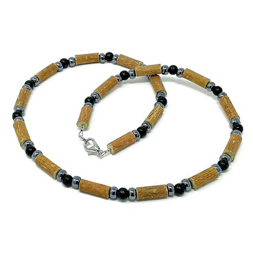 YumNaturals Emporium - Bringing the Wisdom of Mother Nature to Life - Hazelwood Black Hematite Necklace 1