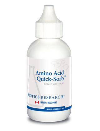 YumNaturals Emporium and Apothecary- Bringing the Wisdom of Mother Nature to Life - Amino Acid Quick Sorb – Biotics Research