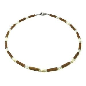 YumNaturals Emporium - Bringing the Wisdom of Mother Nature to Life - Freshwater Pearl Hazelwood Necklace for Children_1