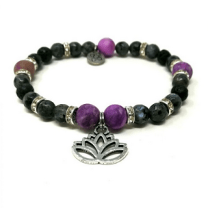 YumNaturals Emporium and Apothecary- Bringing the Wisdom of Mother Nature to Life - Gemstone Single Diffuser Bracelet with Charm