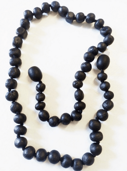 YumNaturals Emporium and Apothecary- Bringing the Wisdom of Mother Nature to Life - Genuine Raw Black Amber Teething Necklace for Children