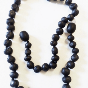YumNaturals Emporium and Apothecary - Bringing the Wisdom of Mother Nature to Life - Genuine Raw Black Amber Teething Necklace for Children