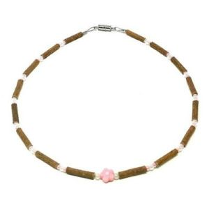 YumNaturals Emporium - Bringing the Wisdom of Mother Nature to Life - Pink Flower Hazelwood Necklace for Babies & Children_1