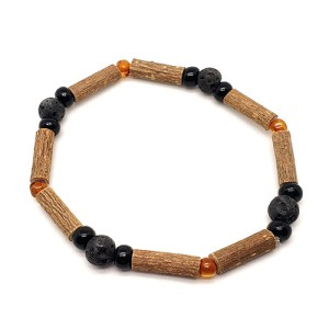 YumNaturals Emporium - Bringing the Wisdom of Mother Nature to Life - Hazelwood Lava Stone Diffuser Baltic Amber Single Bracelet 1