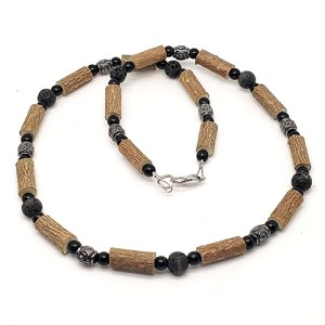 YumNaturals Emporium - Bringing the Wisdom of Mother Nature to Life - Hazelwood Lava Stone Diffuser Necklace 1